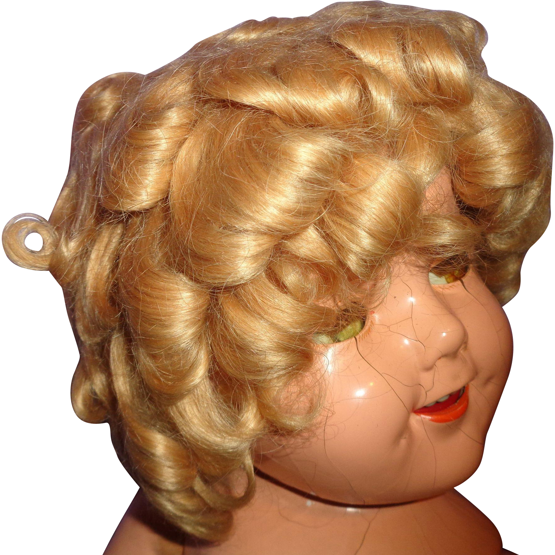 "Authentic Ideal Shirley Temple Mohair Wig for 27"" Composition Doll"