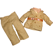Authentic Effanbee Skippy Army Military Outfit for Composition Doll