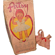 Authentic Effanbee Early Patsy Box and Dress for Composition Doll