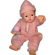 """Authentic Effanbee Dy-Dee Brushed Eiderdown Snowsuit for 11"""" Baby Doll ~ Mint"""
