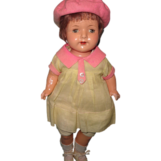 "Factory Original Effanbee 17"" Composition Mama Doll"