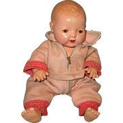 "Effanbee Dy-Dee Eiderdown Pink Snowsuit for 15"" Baby Doll"