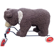 Large Steiff Ride On Bear ~ Straw Stuffed