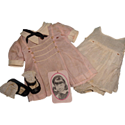 "Authentic Jane Withers Tagged Outfit for 19"" Composition Doll Complete w/ Shoes & Hangtag ~ Madame Alexander"