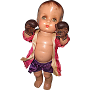 "Effanbee ""The Champ"" Candy Kid Boxer Composition Boy Doll"