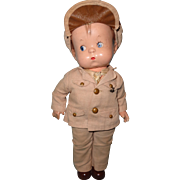Factory Original Military Skippy Effanbee Composition Doll ~ Patsy' Boyfriend