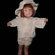 """Schoenhut 15"""" Doll w/ Handmade Outfits from Schoenhut Pattern"""