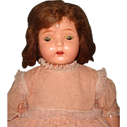 Dolly Reckord Talking Phonograph Composition Doll by Madame Hendren w/ One playing cylinder - Red Tag Sale Item