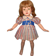 "Effanbee Dewees Cochran 21"" Barbara Lou American Child Composition Doll"
