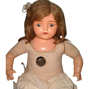 """26"""" Dolly Reckord w/ ALL 6 Cylinders Talking Phonograph Composition Doll ~ Works ~Very Pretty"""