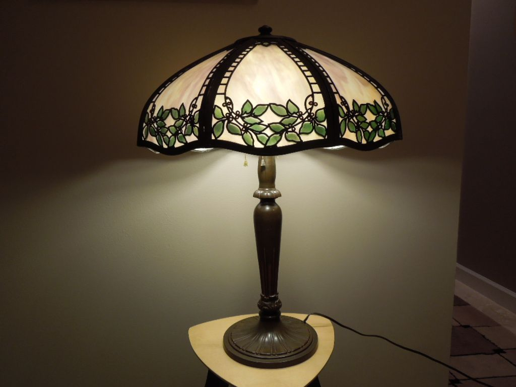 35 Handel Metal Overlay Lamp From Antiquevintagelamps On