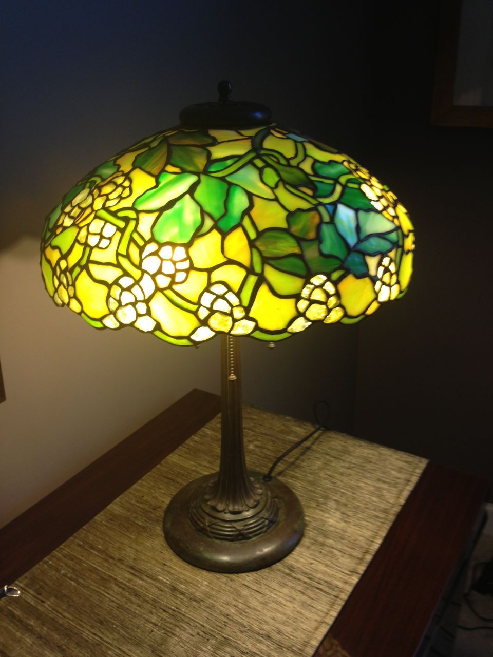 68 Duffner Kimberly Leaded Lamp From Antiquevintagelamps On Ruby Lane