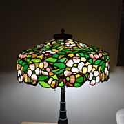 73- Important Duffner and Kimberly leaded lamp