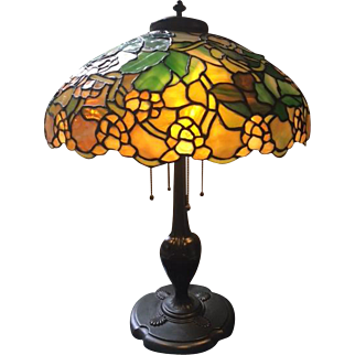 78- Duffner Kimberly Roman leaded lamp
