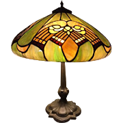 80-Whaley Art Deco Leaded lamp