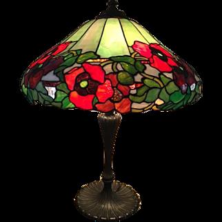 82-Wilkinson leaded poppy Lamp.
