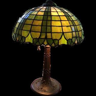84-Gorham Leaded lamp.