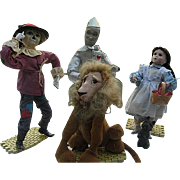 Wizard of Oz - Ashton Drake Galleries Dolls - 1994 - Dorothy, Tin Man. Scarecrow and The Cowardly Lion - Porcelain - COA
