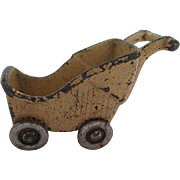 Vintage Cast Iron Kilgore Dollhouse Stroller Toy - numbered 11