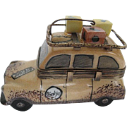 Limoges Trinket Box - African Safari Vehicle - Hand-painted - LaGloriette - made in France