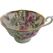 Rare Royal Albert Rose Gold Flared Grand Acon Treasure Chest Teacup - made in England