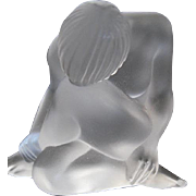 Lalique French Crystal NU REVE Statuette Dreaming Nude - signed