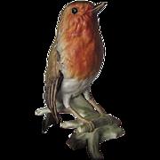 Goebel Rotkehlchen Porcelain Robin made in W.Germany - 1968 - signed
