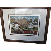 """The Morning Train"" framed print by Ann Rugh Baker - (Mrs. Bee)"