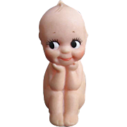 "Vintage Kewpie ""The Thinker"" vinyl squeak toy - signed"