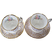 Paragon By Appointment to Her Majesty the Queen Fine Bone China Exquisite Gilded Cup & Saucer - 2 sets - England