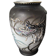 1900-1940 Japanese Moriage Dragon Ware hand-painted Porcelain  vase