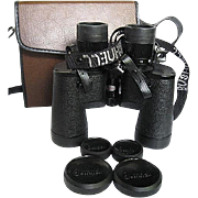 Bushnell Insta Focus Zoom Binoculars - 7 -21 Power 40 mm - 5.5 degrees @ 7- w/Leather Case