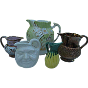 Lot of Five Various size Cream Pitchers
