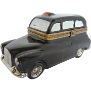 Hand-painted Limoges Taxi figurine trinket box - Made in France by Dubarry