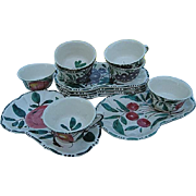 Italian Hand-painted 12 pc. Luncheon Plates and Cups - Made in Italy - Red Tag Sale Item