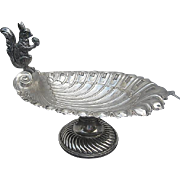 Antique Victorian Figural Squirrel Pedestal Nut Bowl - Silver-plate - Sheffield - c. 1900 - England