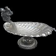 Antique Victorian Figural Squirrel Pedestal Nut Bowl - Silver-plate - Sheffield - c. 1900 - England