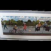 """The Lemonade Stand"" professionally framed print by Gallery One - artist Ann Rugh Baker (Mrs. Bee)"