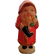 Vintage Miniature 1930's Celluloid Santa Claus Rattle - Rare - made in Tokyo, Japan - Maker Mark