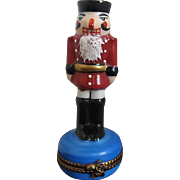 Nutcracker Soldier LaGiorette Limoges Figurine Trinket Box - Hand-painted - France