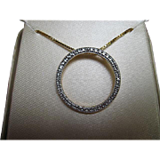 18kt. Gold Over Sterling Silver Diamond Accent Necklace - 18 inch