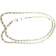 "14k Gold 20"" Diamond Cut Rope Chain Necklace - 9 grams"