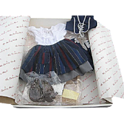 "The Shirley Temple Dress Up Doll clothing Set ""Blue Bird"" by Danbury Mint - original box"