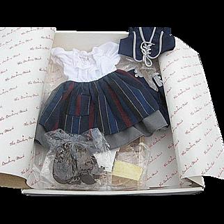 "The Shirley Temple Dress Up Doll clothing Set ""Blue Bird"" by Danbury Mint - original box"