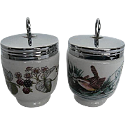 Two Royal Worcester Porcelain Egg Coddlers - made in England