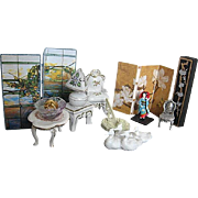 Vintage porcelain Dollhouse Furniture, Miniatures and Accessories