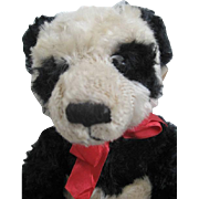 Russ Bombay Mohair Mei Ying Panda Bear - Red Bow - Plush Stuffed toy - original Label