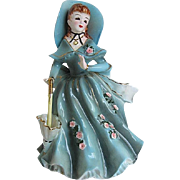 1957 Geo Lefton Porcelain Southern Belle/planter - signed and numbered 164
