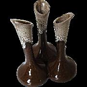 Van Briggle Pottery Triple Bud Vase - signed