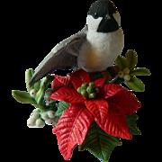 Lenox Christmas Chickadee bird figure
